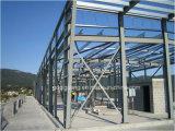 Almacén de acero de la construcción con la pintura