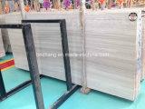 Белый деревянный мрамор для сляба плитки настила