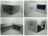 최상 7 인치 LCD 영상 소책자 - 인쇄에 있는 LCD 인사말 카드 영상