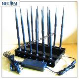 Enfriamiento del teléfono móvil / WiFi / GPS Jammer, Nueva 4G WiFi GPS Jammer Jammer LoJack con cargador de coche, Jammer señal GSM CDMA 3G 4G WiFi Jammer