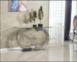Tabella pranzante di vetro moderna superiore dell'acciaio inossidabile