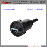 USB 3.0 Female Connector/USB Connector Round/USB Data Connector para Communications Equipment