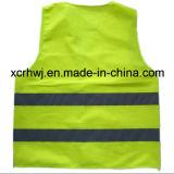 O fabricante reflexivo da veste, fábrica da veste da segurança, preço Sleeveless reflexivo da camisa do tráfego da estrada, veste elevada da visibilidade, trafica a veste reflexiva