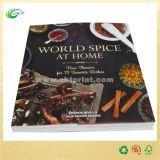 Impression polychrome de livre de cuisinier de la boutique A4 avec la colle chaude (CKT-BK-421)