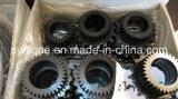 CNC que trabaja a máquina la rueda de cadena de acero de proceso