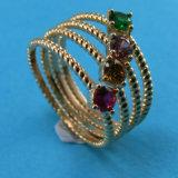 Il partito della perla dei monili dell'argento sterlina squilla gli anelli della signora Factory Own Designer Round dell'anello della perla per le donne R10492 all'ingrosso