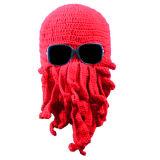 Balaclava Cthulhu шлема восьминога вязания крючком связанный рукой Crocheted