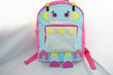 女の子のピンクのロボット新型ポリエステルバックパック