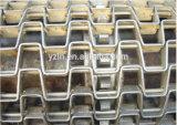 De Transportband van het roestvrij staal Voor Batterij, de Apparatuur van de Transportband van het Roeien