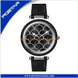 Kundenspezifische Quarz-Uhr für Dame mit echtes Leder-Band