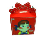Caja de regalo impresa de la historieta