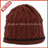 高品質の方法冬のジャカードかぎ針編みの帽子