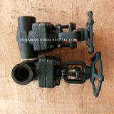API602 800lb 1500lb forjou a válvula de porta de aço do NPT da extremidade de linha
