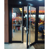 Brown Color Powder Coated Aluminium Casement Door K08009