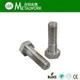 Boulon Hex DIN933 d'acier inoxydable