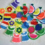 Корейские Handmade губки кухни тканей скруббера Scrubbies мытья тарелки вязания крючком