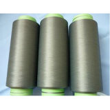 Poliestere Bamboo Charcoal Filaments Yarn DTY White e Grey