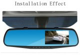 Carro Video Parking Sensor Specialized para Dual Lens Car DVR Mirror