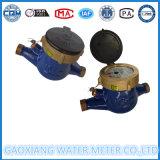 Contador del agua multi mecánico de la rueda de la paleta de jet