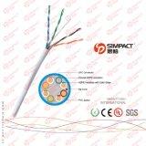 La UL, CE, RoHS enumeró el cable de UTP Cat5e