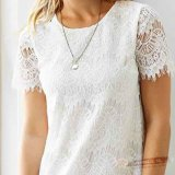 Повелительницы Knit Lacey Tee Border Cut Evening Short с Lining Dress