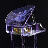 Beau piano en cristal pour le cadeau de Noël et le cadeau de Valentines