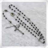Materiale differente dei branelli e rosario cattolico del san, rosari religiosi (IO-cr290)