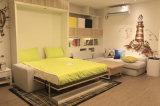 前部ソファーおよび本箱が付いているマーフィーの壁のベッド