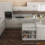 Gabinete de cozinha natural transitório da madeira contínua da cinza do projeto de Oppein Italy (OP14-106)
