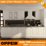 Oppein entrega rápida muebles de cocina de madera de PVC blanco moderno (OP14-K002)