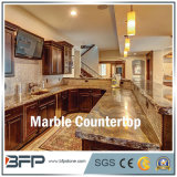 Мраморный каменная встречная верхняя часть для кухни, ванной комнаты, штанги и стола