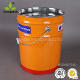 5 Gallonen-schwarze Farben-Metallwanne/-eimer für chemische Verpackung