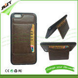 Cas en cuir de téléphone mobile d'unité centrale de couverture de modèle de pochette pour l'iPhone
