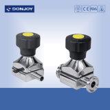 Mini-valve à membrane en forme de diaphragme avec roue à main en plastique (extrémités de soudure)
