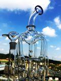 Hbkinghoney 16inch 60 Bienenwabebirdcage-Dusche-Glas-rauchende Wasser-Rohre des Durchmesser-5thickness grösseres