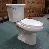 Toilette en deux pièces ovale et grande économique