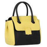 方法BlueおよびBlack Handbag PU Ladies Plain Handbag