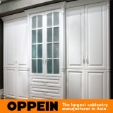 Garderobe van de Lak van de Deuren van de Schommeling van Oppein de Moderne Wit Ingebouwde (YG61530)