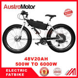 Bike 26inch e Fatbike 48V750W 72V30ah 6000W тучный электрический