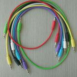 Cables modulares de la corrección de la alta calidad para los sintetizadores modulares