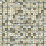 8mm Thickness Ceramic Mixed Glass Wall Mosaic con Culture Stone