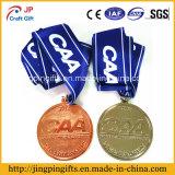 2016 kundenspezifisches Qualitäts-Gold/silberne Bronzesport-Medaillen mit Farbband