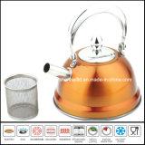 Caldera de té del acero inoxidable del color de la alta calidad 1L con el filtro