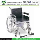 의학 알루미늄 개화 샤워 Commode 휠체어