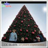 モールの装飾の屋外の金属巨大なLEDのクリスマスの赤い木ライト