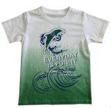 T-shirt 100% de garçon de coton chez des vêtements des enfants avec l'impression Sqt-603