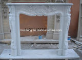 White intagliato Fireplace per Interior Design/Home Decoration