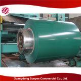 Hoja de acero galvanizada en baño caliente prepintada PPGI del material de construcción de la estructura de acero