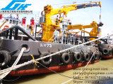 Grue marine 7t@10m de paquet de bateau de boum télescopique