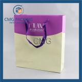 Малые цветки напечатали подарки упаковывая мешок белой карточки бумажный (DM-GPBB-110)